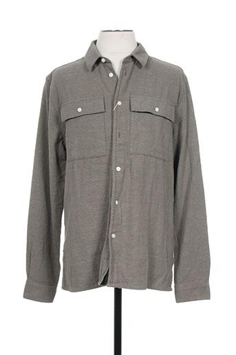 samsoe EFFI_CHAR_1 samsoe chemises homme de couleur vert