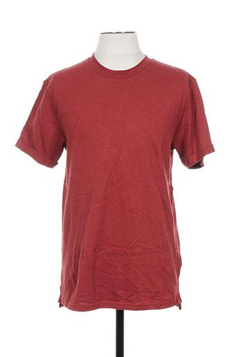T-shirt manches courtes rouge SAMSOE & SAMSOE pour homme