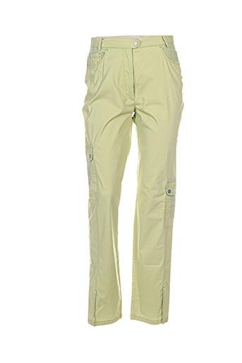 bleu de sym pantalons femme de couleur vert