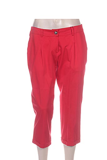 diambre pantacourts femme de couleur rouge