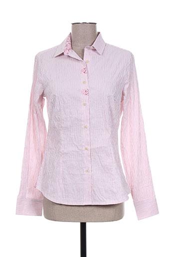 gaia boldetti chemises femme de couleur rose