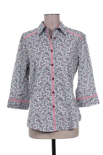 gaia boldetti chemises femme de couleur gris