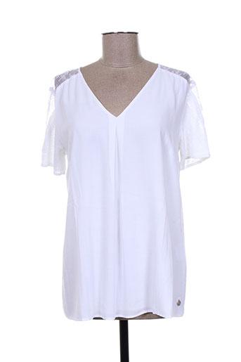 mae mahe chemises femme de couleur blanc