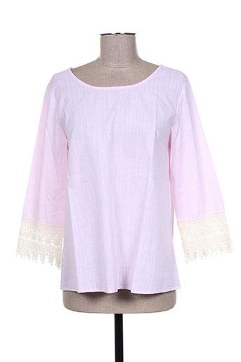 cerise blue chemises femme de couleur rose
