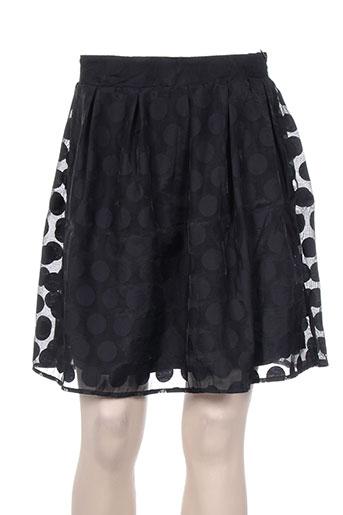 Jupe courte noir DAPHNEA pour femme
