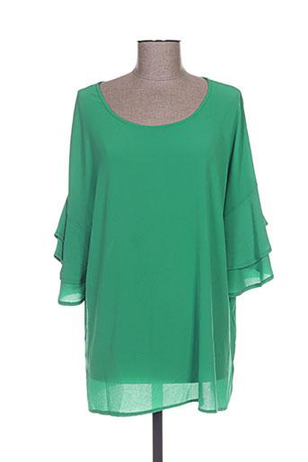 akoz chemises femme de couleur vert