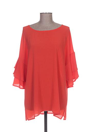 akoz chemises femme de couleur orange