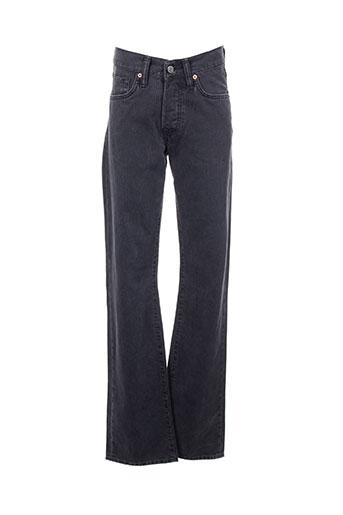 Pantalon casual gris EDWIN pour homme