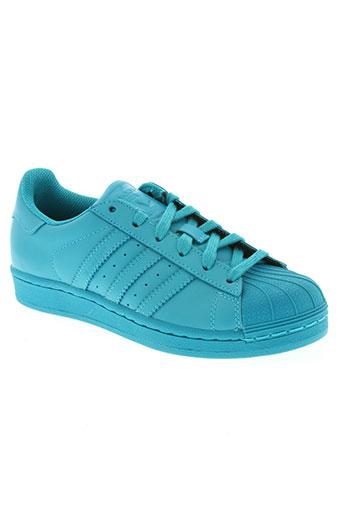 adidas chaussures enfant de couleur bleu