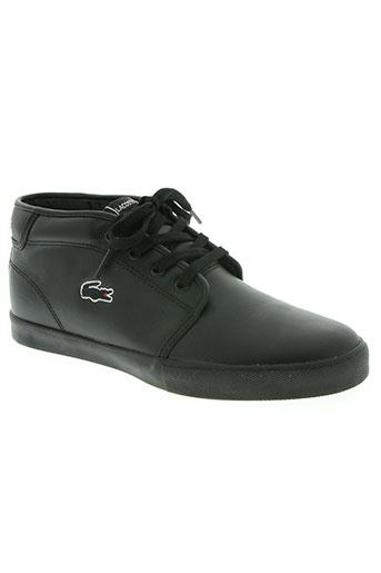 lacoste chaussures femme de couleur noir