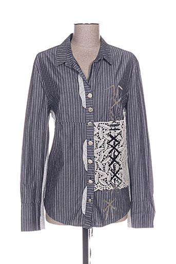 daniela dallavalle chemises femme de couleur gris