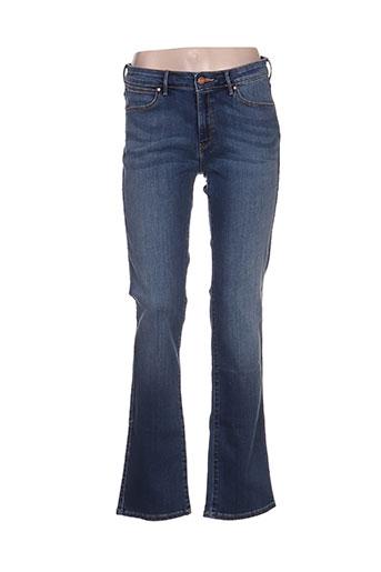 wrangler jeans femme de couleur bleu