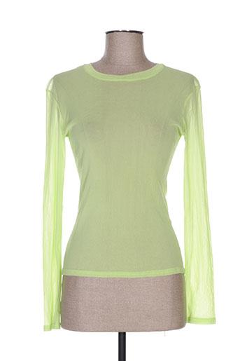 quinze heures trente chemises femme de couleur vert