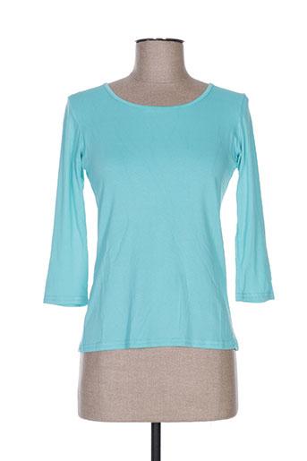 T-shirt manches longues bleu HAWAI pour femme