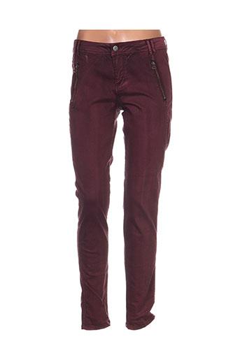 imitz pantalons femme de couleur violet