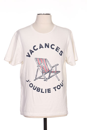 french kick t-shirts homme de couleur beige