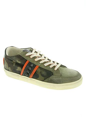 crown chaussures homme de couleur vert