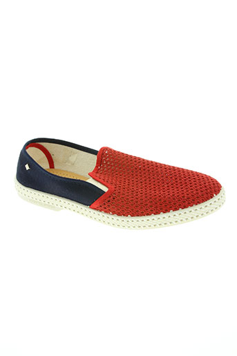 rivieras chaussures homme de couleur rouge