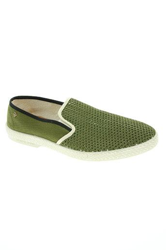 rivieras chaussures homme de couleur vert