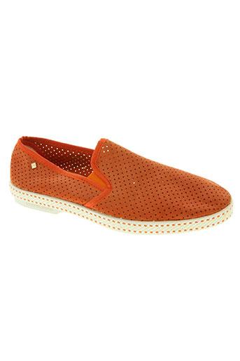 rivieras chaussures homme de couleur orange