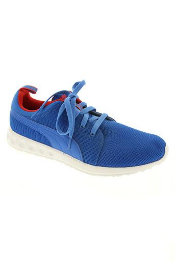 puma chaussures homme de couleur bleu