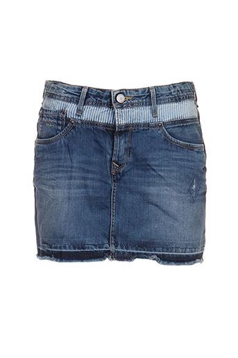 pepe jeans jupes fille de couleur bleu