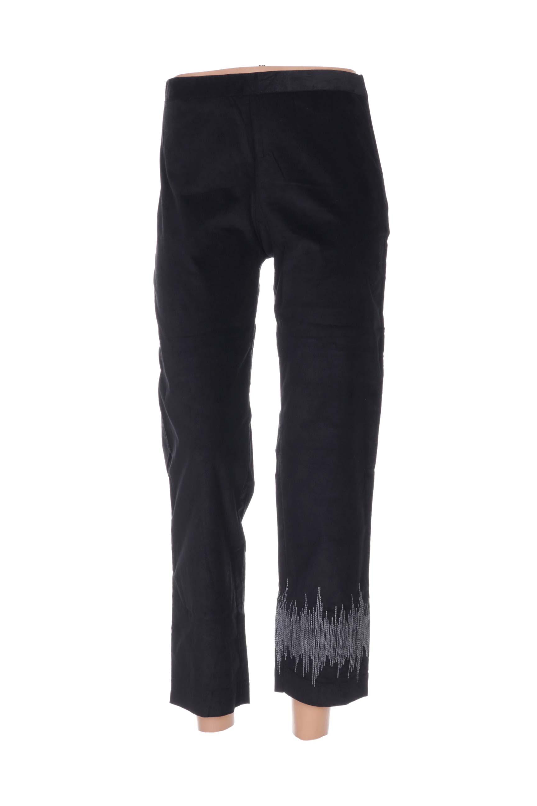 Pantalon 7/8 femme Nid D'abeille noir taille : 38 40 FR (FR)