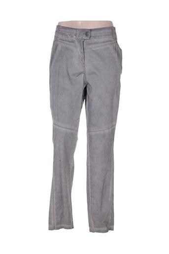 deca pantalons femme de couleur gris