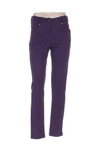 maloka pantalons femme de couleur violet