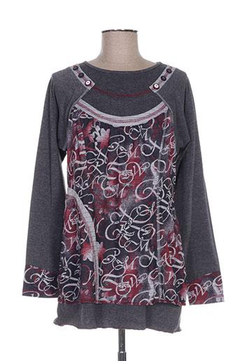 s.quise chemises femme de couleur gris