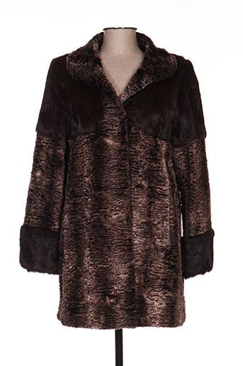 Manteau long marron ANTON & MODA pour femme