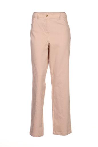 giani forte pantalons femme de couleur beige
