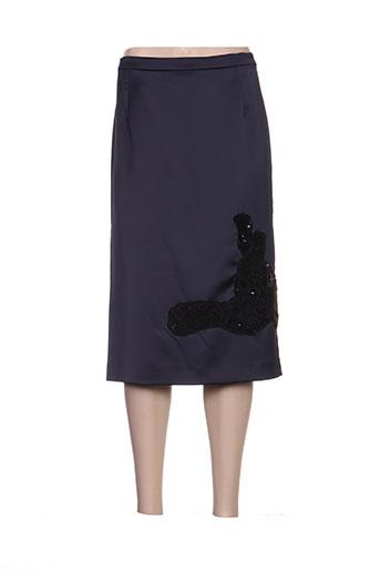 Jupe mi-longue bleu ALAIN WEIZ pour femme
