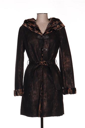 anton & moda manteaux femme de couleur marron