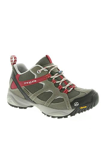trezeta chaussures femme de couleur gris