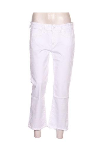 pepe jeans pantacourts femme de couleur blanc