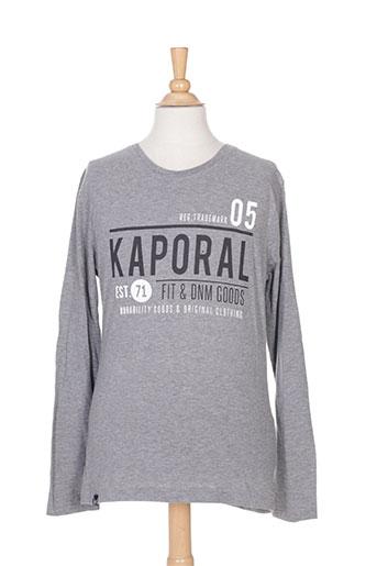 kaporal t-shirts garçon de couleur gris