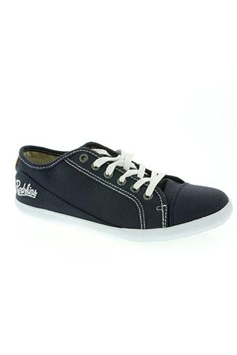 redskins chaussures garçon de couleur bleu