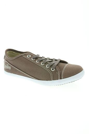 redskins chaussures garçon de couleur marron