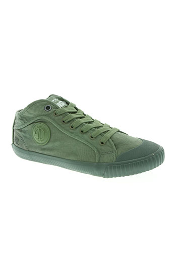 pepe jeans chaussures homme de couleur vert