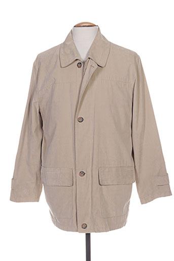 griffe noire vestes homme de couleur beige
