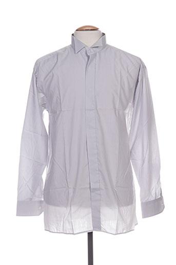 griffe noire chemises homme de couleur gris