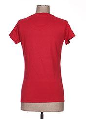 T-shirt manches courtes rouge TPTK pour femme seconde vue