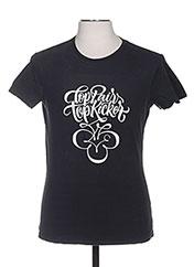 T-shirt manches courtes noir TPTK pour homme seconde vue