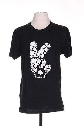 T-shirt manches courtes noir TPTK pour homme