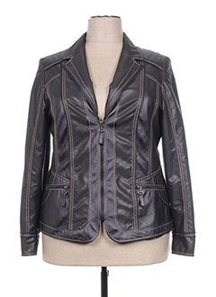Veste simili cuir noir KIRSTEN pour femme