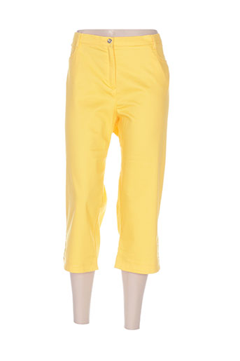 christine laure pantacourts femme de couleur jaune