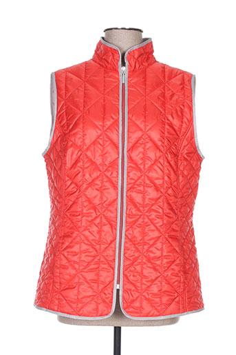 canasport manteaux femme de couleur orange