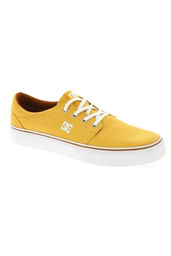 dc chaussures homme de couleur jaune