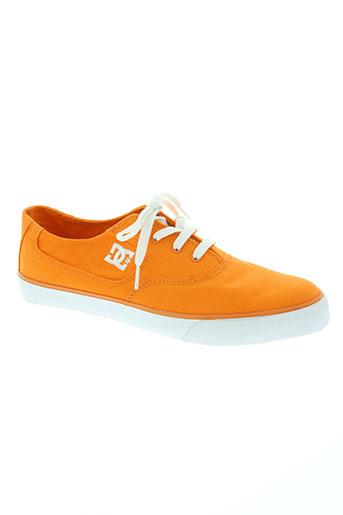 dc chaussures homme de couleur orange